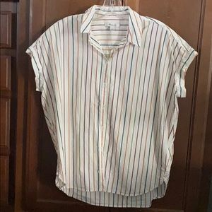 Madewell Central Sadie Stripe Top Shirt Small